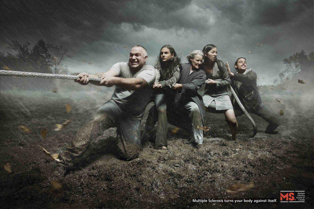 Tug of War ad for the MS Society - BC and Yukon Division