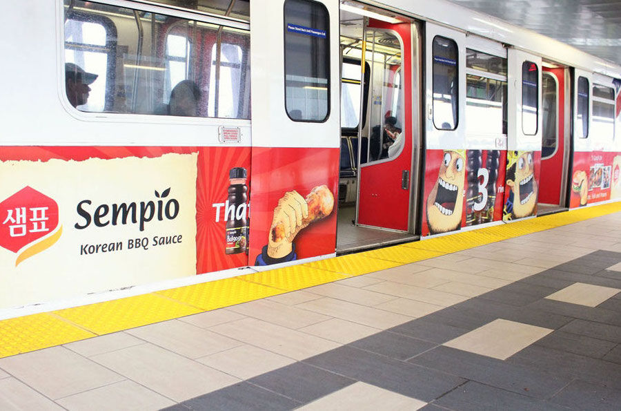 The Hungry King on Skytrains in Vancouver