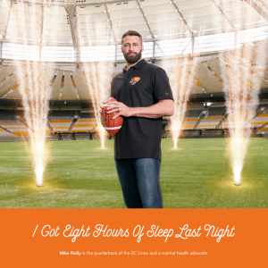 BC Lions Quarterback for Celebrate Everyday Victories