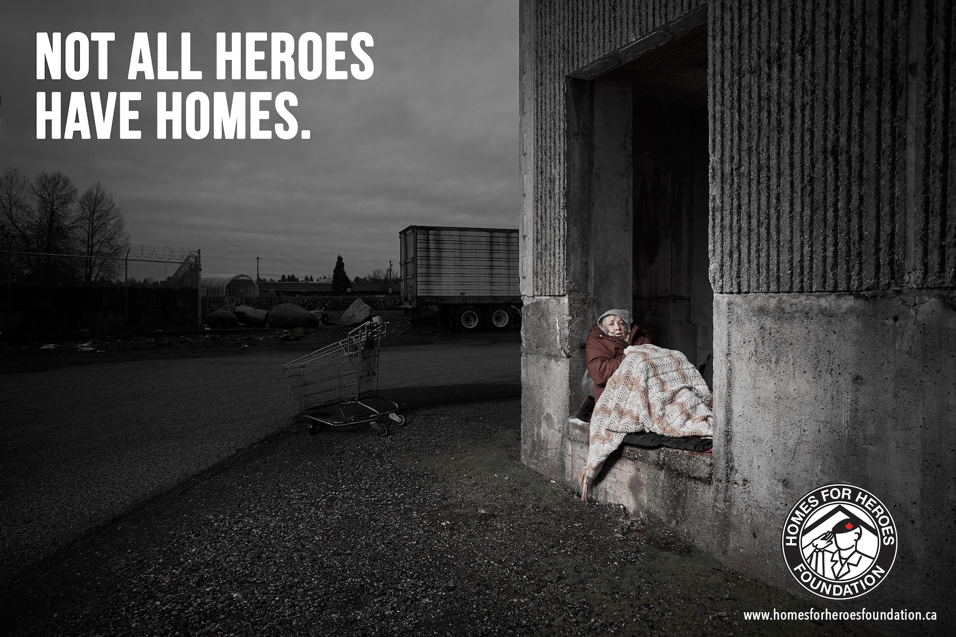 Vancouver homeless veterans ad campaign