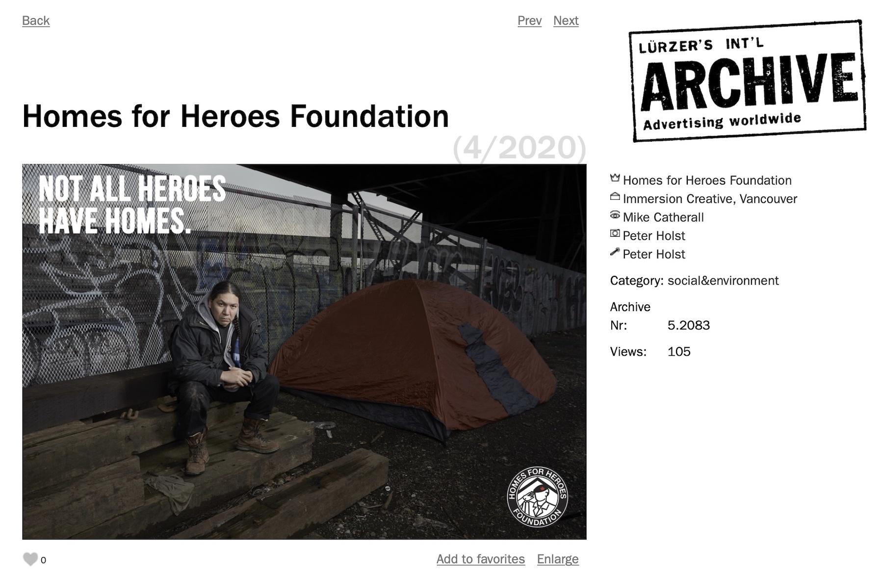 Lurzers Archive ads for homeless veterans