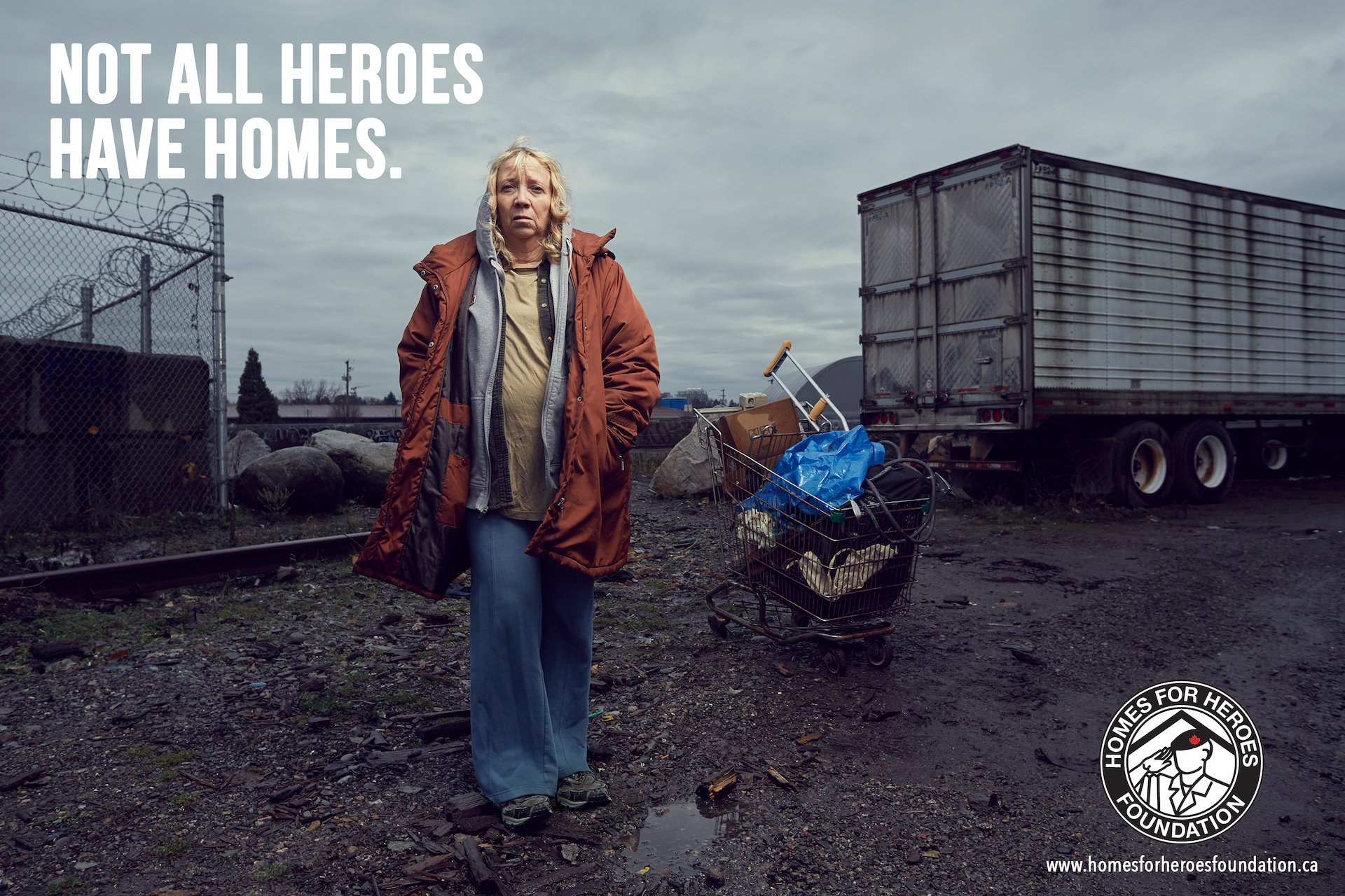 Outdoor Homeless Veteran Ad in Vancouver