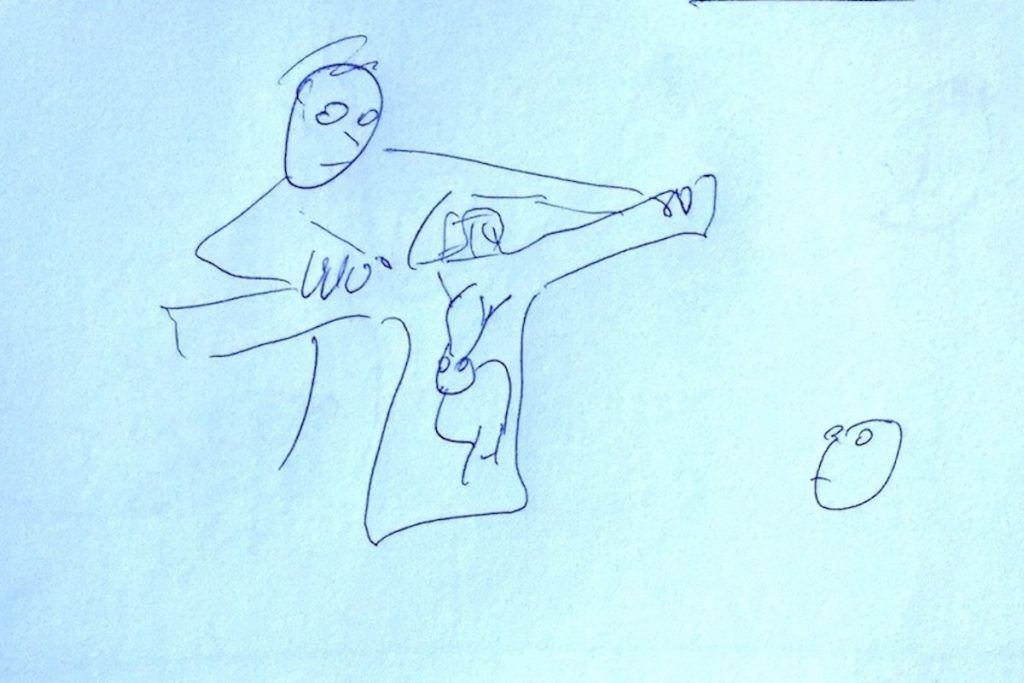 LE Sweater sketch